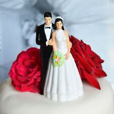 Wedding Vintage Cake Toppers for sale   eBay Vintage Bride And Groom Wedding Cake Topper Black Hair