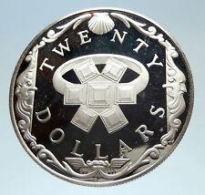 1985 British Virgin Islands Sunken Ship Treasure Emerald Ring Silver Coin i75353