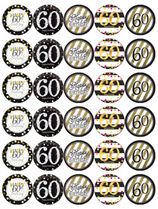 60th Birthday Cupcake Toppers Picks For Sale Ebay