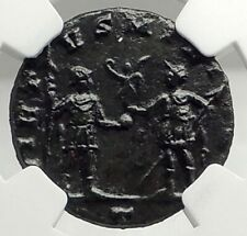 AURELIAN Authentic Ancient 270AD Milan Original Roman Coin w SOLDIER NGC i76296
