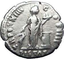 ANTONINUS PIUS  138AD Silver Authentic Ancient Roman Coin PIETAS i70278