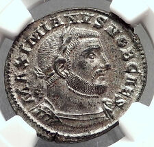 GALERIUS 303AD Trier Follis Authentic Ancient Roman Coin Genius NGC MS i62956