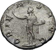 GORDIAN III 243AD Silver Authentic Genuine Ancient Roman Coin SOL SUN  i67151