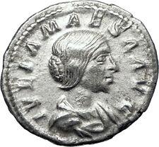 JULIA MAESA Elagbalus Grandmom 218AD Silver Ancient Roman Coin Pudicitia i70281