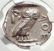 ATHENS Greece 440BC Ancient Silver Greek TETRADRACHM Coin Athena Owl NGC i73342