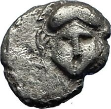 MESEMBRIA Thrace 400BC Crested CORINTHIAN Helmet Silver Ancient Coin i69863