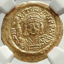 JUSTIN II Authentic Ancient Byzantine 565AD Genuine GOLD Coin NGC MS i68153