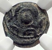 ANTIOCHOS III the Great 222BC Rare R1 Seleukid Greek Coin w ELEPHANT NGC i72670