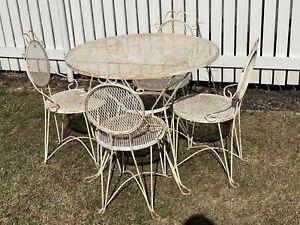 white wrought iron patio garden