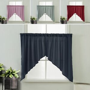 solid cafe curtains tiers for sale ebay
