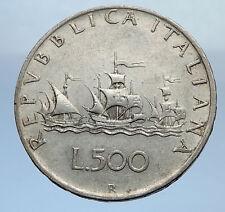 1959 ITALY - CHRISTOPHER COLUMBUS DISCOVER America SILVER Italian Coin i69864
