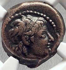 ALEXANDER II Zabinas Ancient 128BC Seleukid Greek Coin w DIONYSUS - NGC i69145