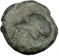 Syracuse Sicily 375BC Tyrant Dionysios Greek Coin ATHENA HIPPOCAMP Horse i15585