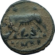 CONSTANTINE I the GREAT 330AD Romulus Remus WOLF Rome Ancient Roman Coin i66500