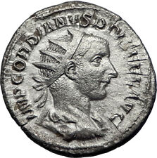 GORDIAN III Genuine Ancient 241AD Rome Silver Roman Coin Farnese HERCULES i70064