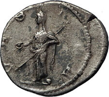 JULIA MAMAEA 226AD Rome Authentic Ancient  Silver Roman Coin VESTA Home  i70367