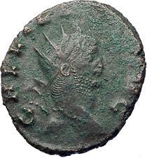 GALLIENUS son of Valerian I 267AD Authentic Ancient Roman Coin Antelope i73490