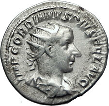 GORDIAN III 239AD Ancient Authentic Genuine Silver Roman Coin Aequitas   i70063