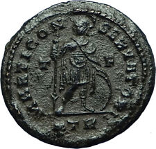 CONSTANTINE I the Great Ancient 309AD Trier Authentic Roman Coin w MARS i66516