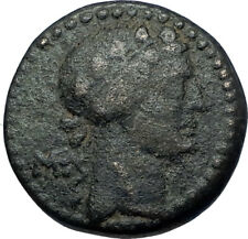 APAMEIA in SELEUKIS Authentic Ancient 9BC Greek Coin DIONUSUS & THYRSOS i68046