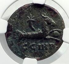 MACRINUS 217AD Parium MYSIA Authentic Ancient Roman Coin CAPRICORN NGC i77405