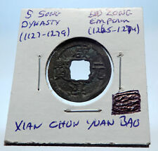 1265AD CHINESE Southern Song Dynasty Genuine DU ZONG Cash Coin of CHINA i72581