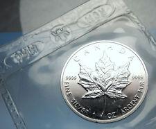 1991 CANADA Authentic Silver 1oz Coin UK Queen Elizabeth II & MAPLE LEAF i70901