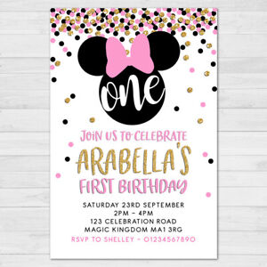 minnie mouse party invitations for sale