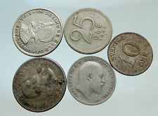 GROUP LOT of 5 Old SILVER Europe or Other WORLD Coins for your COLLECTION i75671