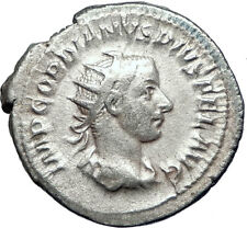 GORDIAN III 244AD Rome  Ancient Genuine Silver Roman Coin SECURITY  i73262