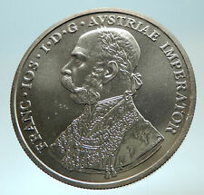 2001 AUSTRIA w KING FRANZ JOSEPH I Genuine Silver 10 Kreuzer Fantasy Coin i76615