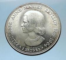 1964 DENMARK King Frederick IX Silver Princess ANNE MARIE WEDDING Coin i68569