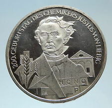 2003 GERMANY with Justus von Liebig Chemist Genuine Silver 10 Euro Coin i75324