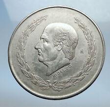 1951 MEXICO Mexican Independence War Hero HIDALGO on Big 4cm Silver Coin i70755