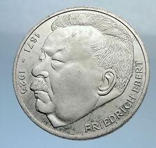 1975 GERMANY Politician Friedrich Ebert Antique Silver 5 Mark GERMAN Coin i71977