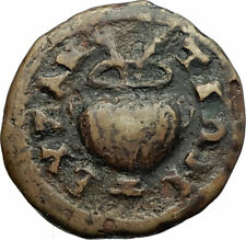 DOMITIAN Authentic Ancient 81AD Arados Phoenicia Roman Coin URN SPHINXES i77185