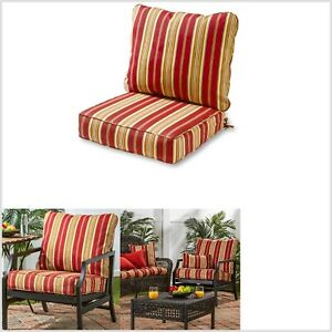 red patio furniture deep seat cushions
