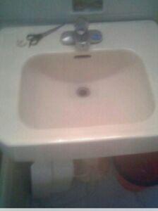 pink ceramic bathroom sinks for sale ebay