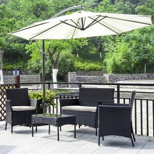 black wicker patio garden furniture