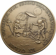 1969 APOLLO 12 NASA Moon Landing EXPLORATION USA Commemorative Medal i66976