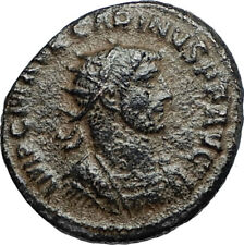 CARINUS w Carus on Authentic Ancient 283AD Genuine Roman Coin of Antioch i67230