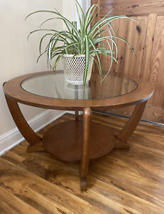 mid century glass in coffee tables for