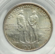 1934 DANIEL BOONE 200th Commemorative US Silver Half Dollar Coin PCGS MS i76424