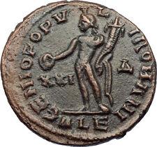 MAXIMIAN Authentic Ancient 300AD Alexandria Original Roman Coin w GENIUS i69186