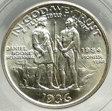 1936 DANIEL BOONE 200th Commemorative US Silver Half Dollar Coin PCGS MS i76427