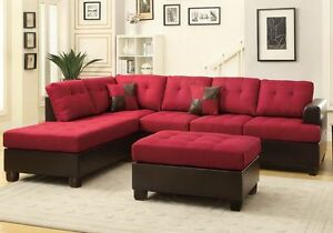 red sectional sofas for sale in stock