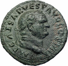 VESPASIAN Authentic Ancient 76AD Rome Genuine Original Roman Coin w SPES i73511