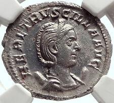 HERENNIA ETRUSCILLA Genuine Ancient 250AD Silver Roman Coin PUDICITIA NGC i68950