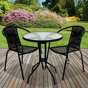 wicker patio table chair sets for