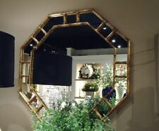 Hollywood Regency Octagon Home D    cor Mirrors for sale   eBay Antique Gold Iron Bamboo Octagon Wall Mirror Asian Elegant Hollywood  Regency 32